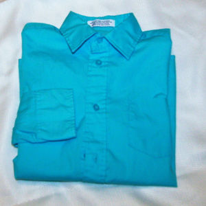 Izod Boys Button Down Shirt Size 10 Reg.
